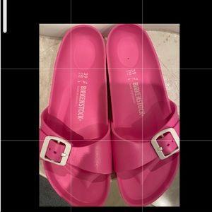 Pink Birkenstocks sandals